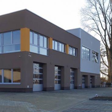 Budova pro údržbu a opravy zařízení v energetice