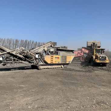 Recyklace štěrků Valašské Meziříčí
