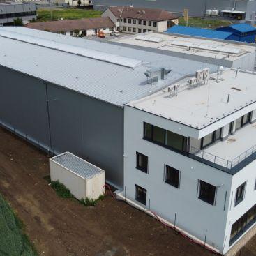 Dokončení stavby skladové haly a administrativní budovy